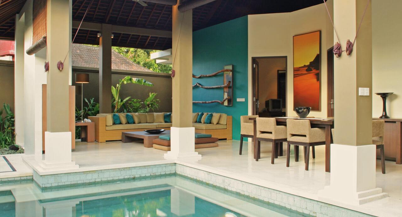 Ahimsa Beach Villa is located in Bali's Jimbaran Bay
